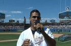 JW Cortés singing the National Anthem at Dodgers stadium